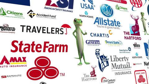 Auto Insurance Logo Loop Animation