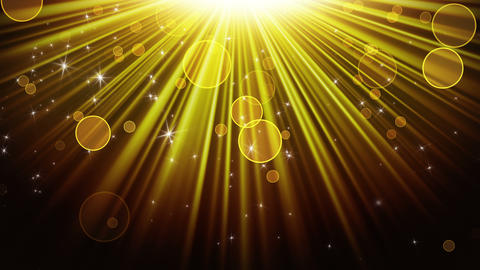 gold rays of light and stars loopable background 4k (4096x2304) Animation
