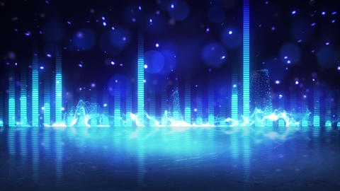 blue equalizer with reflection loopable paty background Animation
