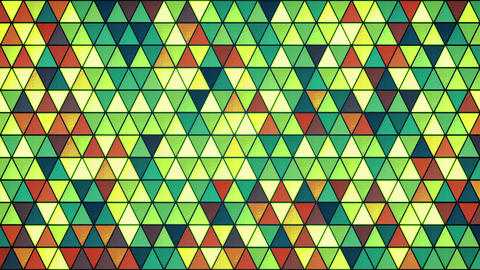 colorful glass triangles pattern seamless loop background 4k (4096x2304) Animation