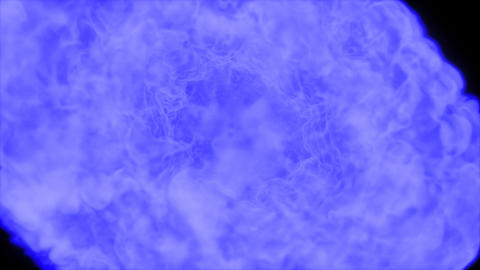 Blue Explosion with alpha channel Animation