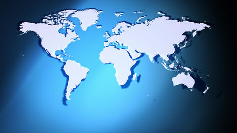Earth continents map global background Stock Video Footage