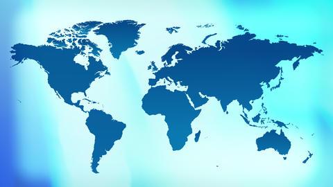 Blue title world map background 4k Animation