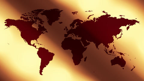 World map and abstract background Animation