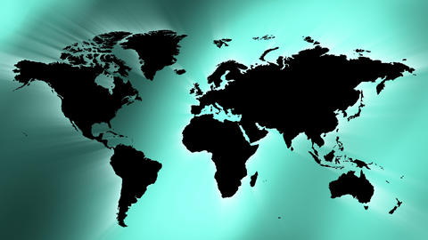 World map green abstract soft background 4k Animation