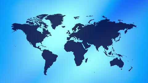 Technology world map background Animation