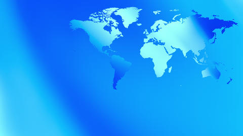 Blue abstract presentation background world map 4k Animation