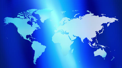 Technology blue world map background Animation
