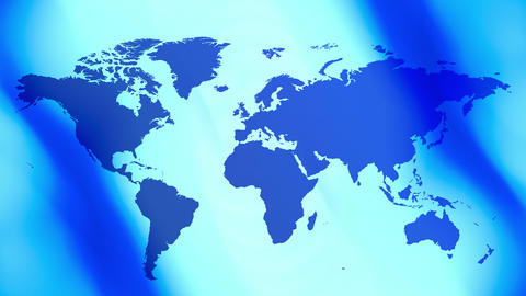 Title world map blue background CG動画素材