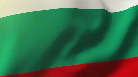 Bulgaria flag waving in the wind. Looping sun rises style. Animation loop Animation