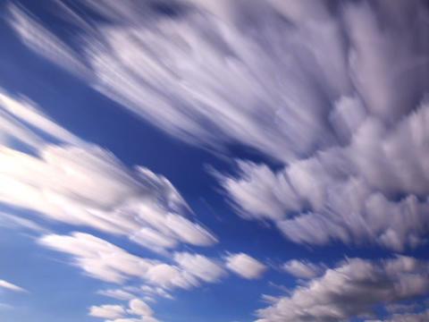 Bright clouds. Clouds blurred. 640x480 Footage