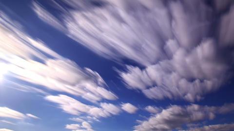 Bright clouds. Clouds blurred. 4K Footage