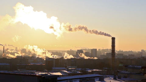 Industrial zone. Ekaterinburg, Russia. 1280x720 Footage