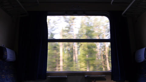 View through the window of the train Footage