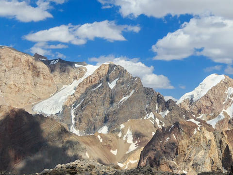 Clouds over the mountains. Pamir, Tajikistan. TimeLapse. 640x480 Footage