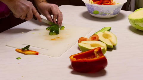 Cooking Salad stock footage