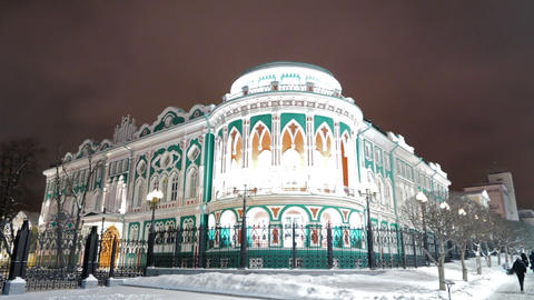 Residence of the governor. Ekaterinburg, Russia. 1280x720 Stock Video Footage