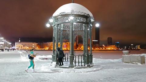 Iron arbor. Landmark. Ekaterinburg, Russia. 1280x720 Stock Video Footage
