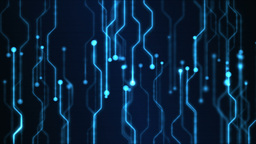 Abstract Technology Circuit Background Animation - Loop Blue Stock Video Footage