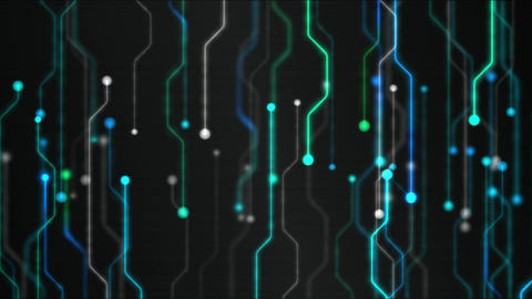 Abstract Technology Circuit Background Animation - Loop... Stock Video Footage
