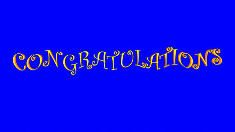 Congratulations (Waves, Blue Screen) Stock Video Footage