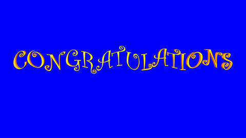 Congratulations (Waves, Blue Screen) Animation