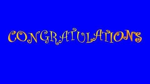 Congratulations (Waves, Blue Screen) Animation