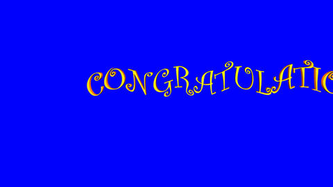 Congratulations (Pan/Blue Screen) stock footage