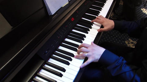 Pianist 2a Stock Video Footage