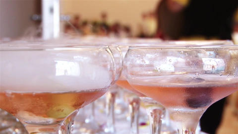 Cups Of Champagne E stock footage