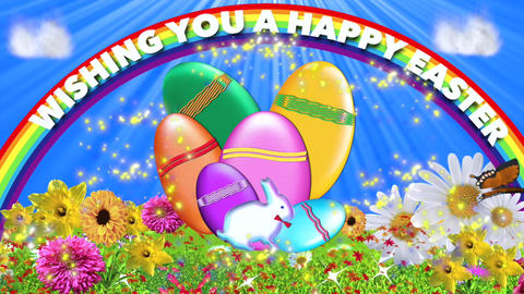 EASTER CARD WITH MUSIC stock footage