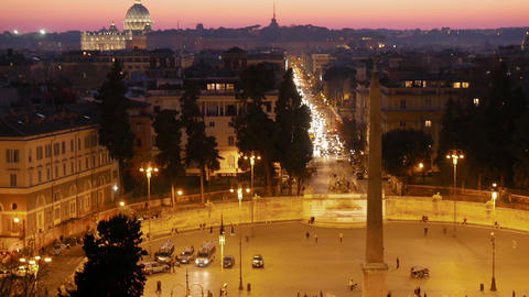 Piazza del Popolo. Rome, Italy Stock Video Footage
