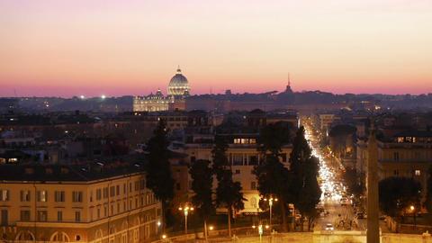 Piazza del Popolo. Rome, Italy. 1280x720 Stock Video Footage