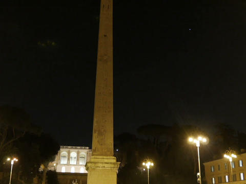 Piazza del Popolo. Egyptian obelisk. Rome, Italy - February 18, 2015: 36-meter o Footage