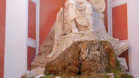 Fountain at Palazzo Barberini. Rome. Italy, Rome, Italy. 1280x720 Footage