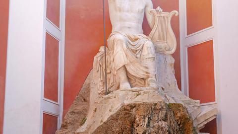 Fountain at Palazzo Barberini. Rome. Italy, Rome, Italy Stock Video Footage