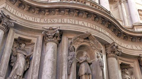 La Chiesa di San Carlino alle Quattro Fontane. Roma, Italy Stock Video Footage