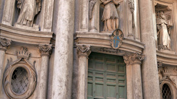 La Chiesa di San Carlino alle Quattro Fontane. Roma,... Stock Video Footage