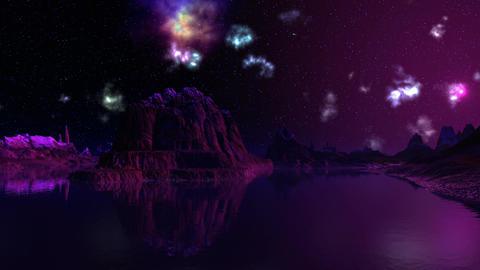 UFO, nebula and dreamscape Stock Video Footage