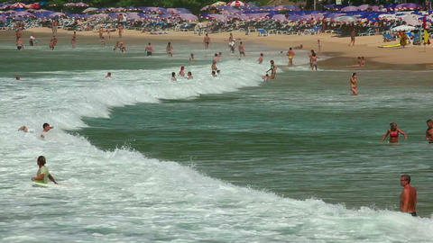 Nai Harn beach Stock Video Footage