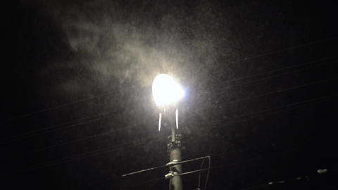 Snowstorm in city 2 Stock Video Footage