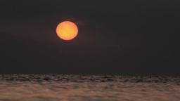 Sun over the sea Footage