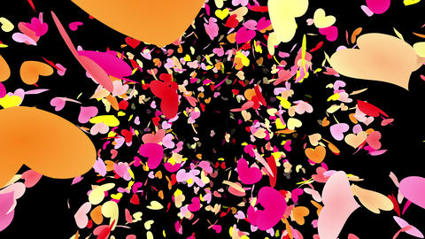 Heart petals pink front Ab 4k Stock Video Footage