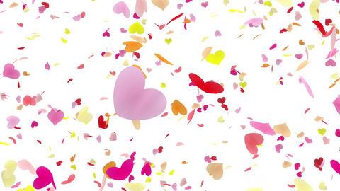 Heart petals pink tornado Aw 4k Stock Video Footage