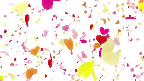 Heart petals pink tornado Aw 4k Animation
