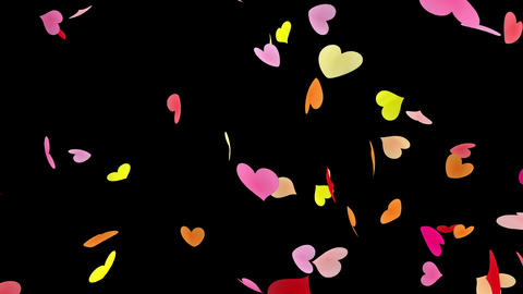 Heart petals pink tornado Bb 4k Stock Video Footage