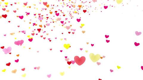 Heart petals pink tornado Ja 4k Animation