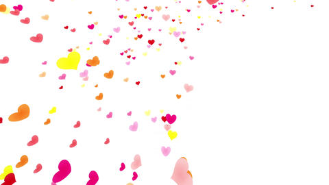 Heart petals pink tornado Jb 4k Stock Video Footage