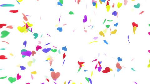 Heart petals rainbow front Dof 4k Stock Video Footage