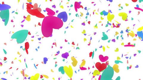 Heart petals rainbow tornado Aw 4k Animation